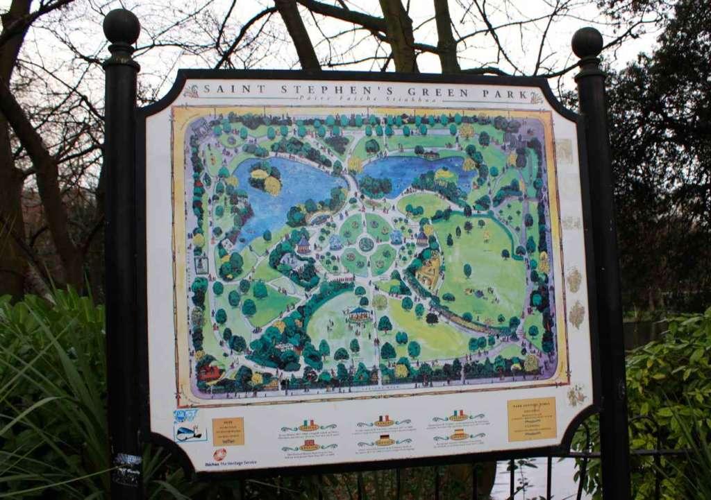 El parque de James Joyce en Dublín: Saint Stephen's Green Park