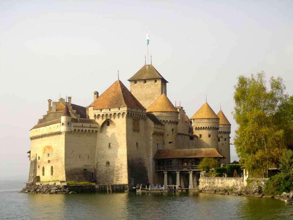 El Castillo de Chillon en Veytaux (Suiza)