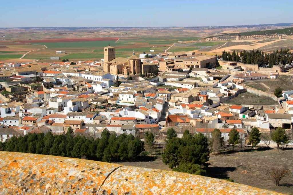 Vistas desde El Castillo de Belmonte en Cuenca (España)