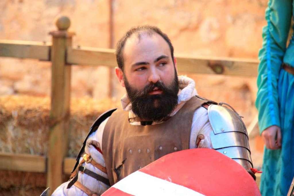 El deporte de la Lucha o Combate Medieval. Castillo de Belmonte, Cuenca, España.