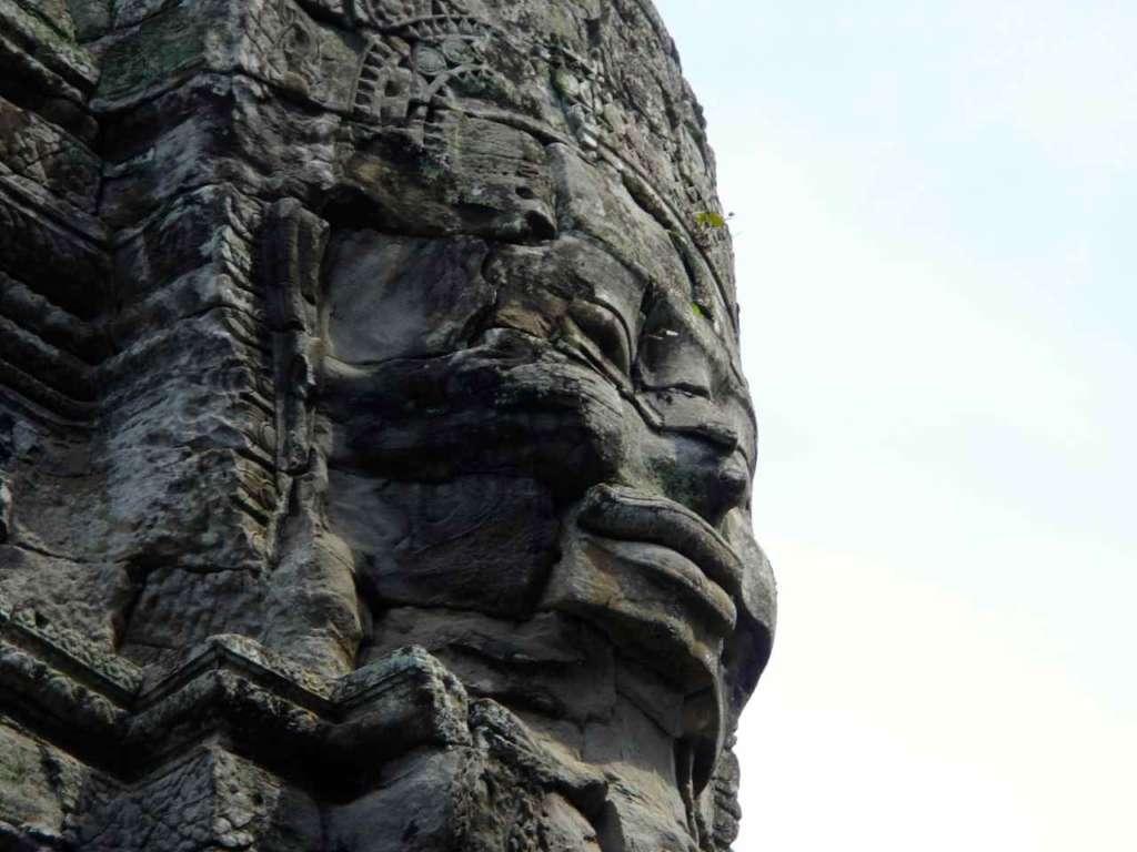 El Templo de Bayon en Angkor (Camboya)