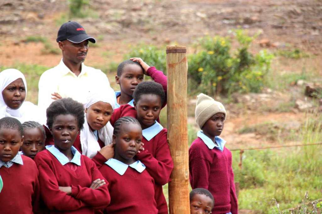 Escolares. Orfanato de Elefantes de David Sheldrick en Nairobi (Kenia)
