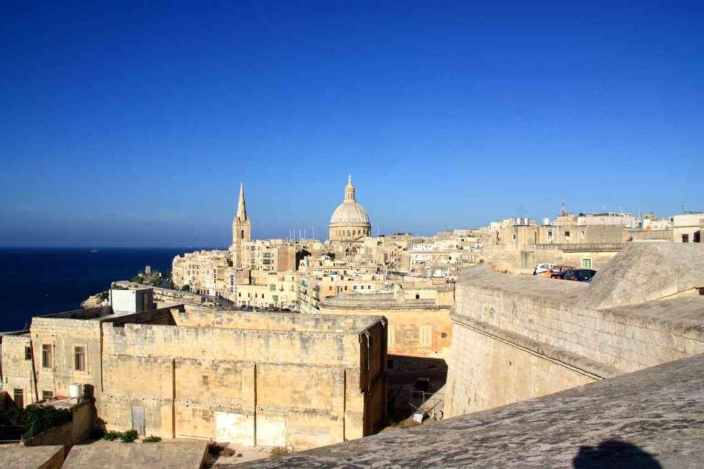 Vista panorámica de la capital de Malta, La Valletta.