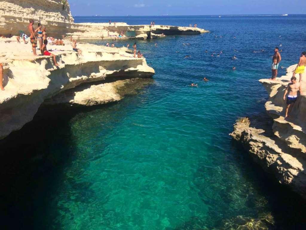 La Piscina de San Pedro, St. Peter's Pool, en Marsaxlokk (Malta)