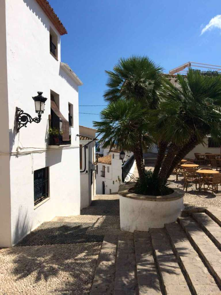 El casco antiguo de Altea en Alicante (España)